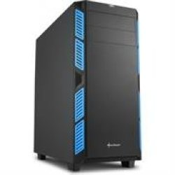 Sharkoon AI7000 Atx Tower PC Gaming Case Blue - USB 3.0 Mounting Possibilities: 1X 5.25 Optical Drive Bay 1X 3.5 Hard Drive Bays