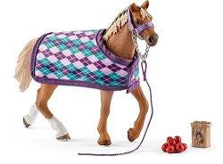 Schleich English Thoroughbred With Blanket Playset