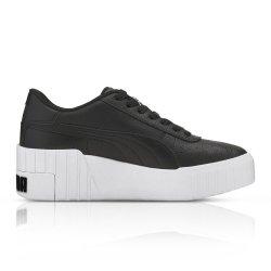 Puma Women's Cali Wedge Black white Sneaker