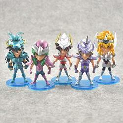 5PCS SET 10CM Saint Seiya Action Figures Knights Of The Zodiac Doll Janpaness Anime Cartoon Toys Kids Christmas Gifts White