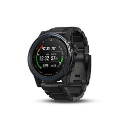 Garmin Descent MK1 Watch-sized Dive Computer With Surface Gps Includes Fitness Features Gray With Titanium Band