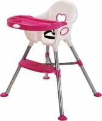 Nuovo Amour High Chair Pink & White