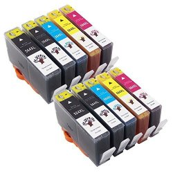 GREENSKY Compatible Ink Cartridges 564 564XL For Photosmart 7510 7515 7520 7525 6515 6512 6510 6520 5514 5515 5510 5520 Printer 2LARGE Black 2PHOTO Black 2CYAN 2MAGENTA 2YELLOW-10 Pack