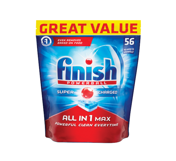 Finish Dishwasher Tablets All In One Regular 56s