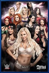 "POSTER STOP ONLINE Wwe Divas - Framed Wrestling Poster Print The Ladies Size: 24"" X 36"" By"