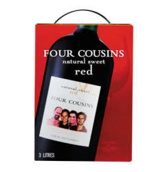 Four Cousins Natural Sweet Red 1 X 3l