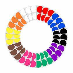 Auvanteo 4 Inch Color Code Dots 10 Assorted Colors 100 LABELS 50 Pack