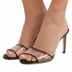 d9939c0f88c YDN Women Comfy Kitten Low Heel Mules Slip On Clog Sandals Open Toe Dress  Pumps Slide Shoes Pvc-black 5 10CM | R | Flat Shoes | PriceCheck SA
