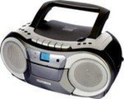 Telefunken Portable Radio CASSETTE+CD+MP3 Playback 2X1.5W