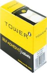 TOWER Label Roll 19MM Dia Box Of 630 White