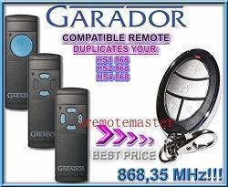 Calvas New For Garador HS1 HS2 S4 Garage Gate Hand Transmitter Clone duplicator 868.3MHZ - Color: 3PCS