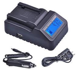 Lcd Quick Battery Charger For Panasonic HC-MDH2 HC-MDH3 HC-X1 HC-X1000 HC-PV100 HDC-Z10000 Camcorder