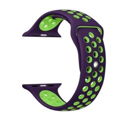 Purple And Green 42MM S m Nike Style Strap Band For Apple Watch