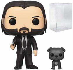 Pop Movies: John Wick Chapter 3 - John In Black Suit With Dog Buddy Pop Vinyl Figure Includes Compatible Pop Box Protector Case