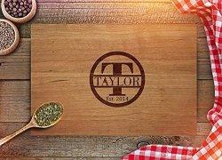 Froolu Personalized Cutting Board - Custom Anniversary Gift - Engraved Cutting Board - Custom Kitchen Decor - Wooden Cutting
