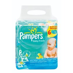 Pampers - Fresh Baby Wipes 6X64S