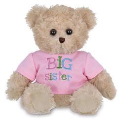 USA Bearington Ima Big Sister Plush Stuffed Animal Teddy Bear In Pink T-Shirt 12 Inches