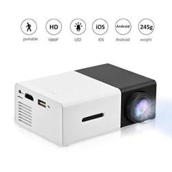 V BESTLIFE MINI Projector Portable 1080P LED Projector Home Cinema Theater Movie Projectors Support Laptop PC Smartphone HDMI In