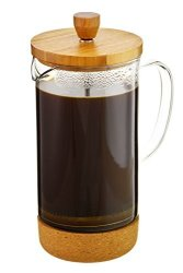 GROSCHE Melbourne French Press Coffee Maker With Bamboo Lid And Cork Base