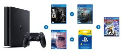 Playstation 4 500GB Console + 4 Games And 3 Months Live PS4