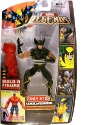 Hasbro Marvel Legends Build A Figure Collection Red Hulk Series 6 Inch Tall Action Figure - Variant Wolverine In Black Costume Plus Red Hulk's Right Arm