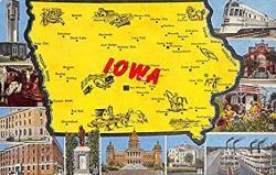 Iowa Usa Postcard Unused