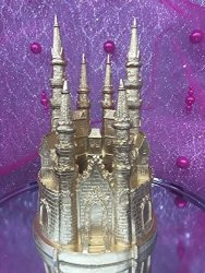 Outstanding Deals On Onlinepartycenter Large 9 Fairytale Gold Castle Cake Funny Birthday Cards Online Inifofree Goldxyz