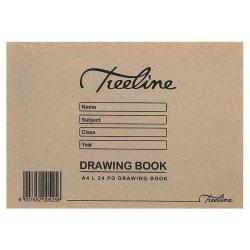 Treeline A4 Landscape 24 Pg Soft Cover Drawing Book