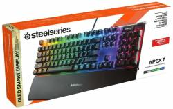SteelSeries - Apex 7 - Mechanical Gaming Keyboard - Oled Smart Display - Red Switches - American Qwerty Layout Us Pc gaming