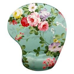 MEMORY Foam Mouse Pad Wrist Rest Gorgeous Flower Unique Design Ergonomic Mousepad With Wrist Support Super Non-slip Pu Base