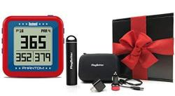 Bushnell Phantom Usa - Red Gift Box Bundle With Playbetter Portable Charger USB Car wall Adapters & Hard Protective Case Handheld Golf Gps