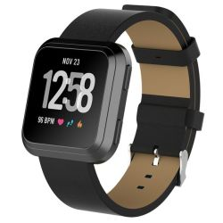 Killerdeals Leather Strap For Fitbit Versa - Black
