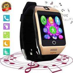 Agkey Smart Watch Touch Screen ALL-IN-1 Bluetooth Smartwatch Wristwatch Unlocked Watch Phone With Camera Handsfree Call For Samsung S8 Plus S7 Edge S6 S5 J7