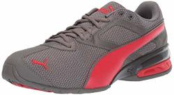 Puma Men's Tazon 6 Sneaker Charcoal Gray-high Risk Red 10.5 M Us