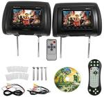 RDP711-BK 7 Black Car Headrest Monitors W dvd Player usb hdmi+games