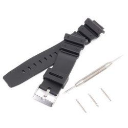 Casio 16MM Silicone Black Strap Watch Band For G-shock