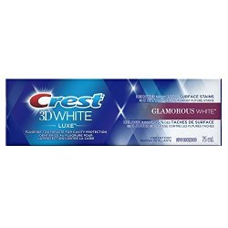 Crest 3D White Luxe Toothpaste Glamorous White Vibrant Mint 75ML 2.5OZ Pack Of 4