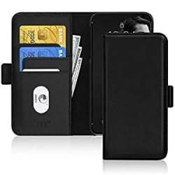 FYY Samsung Galaxy S10 Case Cowhide Genuine Leather Rfid Blocking Wallet Flip Phone Case Cov