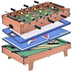 Giantex Multi Game Table Pool Hockey Foosball Table Tennis Billiard Combination Game Table 4 In 1