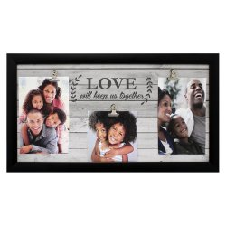Decor - Love 3 Clip Frame