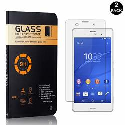 Sony Xperia Z3 Tempered Glass Screen Protector Unextati Premium HD Clear Anti Scratch Tempered Glass Film For Sony Xperia Z3 2 P