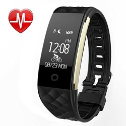 WFCL Fitness Tracker Heart Rate Monitor Activity Sleep Monitor Waterproof Smart Wristband BLACK-1
