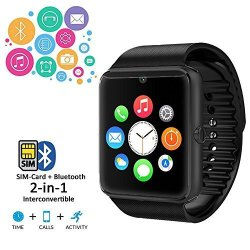 InDigi Unlocked Android GT8 GSM Wireless Bluetooth Watch Phone W Remote Shutter MP3 Camera At &t