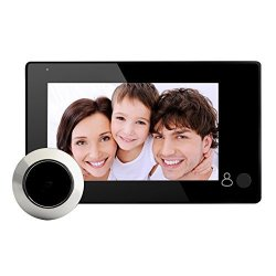 Whitelotous Peephole Viewer Digital Video Door Records Visitors Lcd Doorbell Camera Monitor With 145 Degree 4.3 Inch