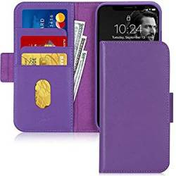 FYY Iphone 11 Case Cowhide Genuine Leather Rfid Blocking Flip Wallet Phone Case Cover