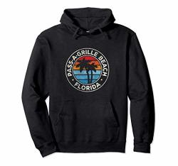 Pass-a-grille Beach Florida Fl Vintage Graphic Retro 70S Pullover Hoodie