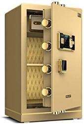USA Wall Safes Cabinet Safes Drop Slot Safes Electronic Home Safe With Medium Home Fingerprint Password Safe Deposit Box Office Large Safe Color : Gold