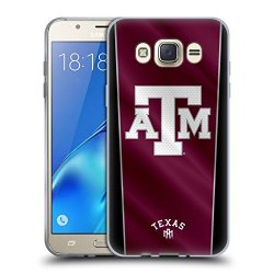 Head Case Designs Official Texas A&m University Tamu Banner Soft Gel Case For Samsung Galaxy J7 2016
