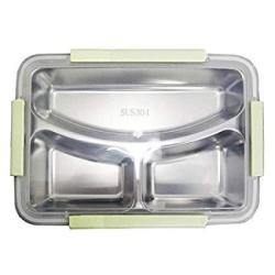 Lunch Boxes - 3 Compartments Stainless Steel Lunch Box Insulation Bento Kids Picnic Food Container