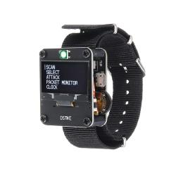 Orange black Deauther Wristband deauther Watch Nodemcu ESP8266 Programmable Wifi Development Board Dstike For Arduino - Products That Work With Official Arduino Boards - Black